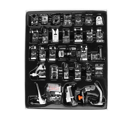 36Pcs Sewing Machine Presser Foot Feet Kit Set With Retail Box For Brother Singer Janom