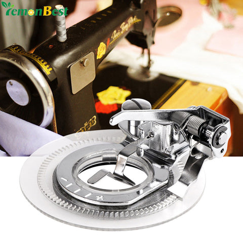 Fancy Flower Embroidery Round Stitch Sewing Machine Accessories Presser Foot Presser Feet For Low Shank Singer Janome Brother