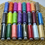 New 24 Spools Set thread Mixed Colors Sewing Polyester All Purpose Sewing Threads Cones Set Abrasion Resistance