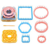 Flower Shape Knitting Loom Knitter Weaver Kit with Needle