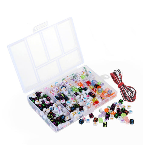 WINOMO 450pcs Acrylic Beads Toy DIY Jewelry for Children Necklace / Bracelet Crafts DIY Beads Children's Educational Toys