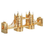 Wincent London Tower Bridge Golden 3D Metal Puzzle Model