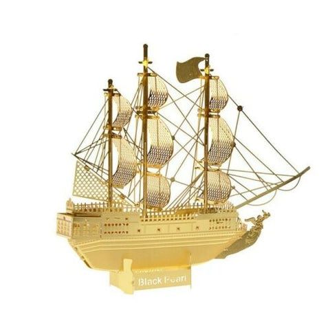 Wincent Black Pearl Golden 3D Metal Puzzle Model MWCT073