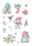 colourful Gnome Christmas stickers