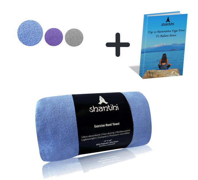 Shantihi Exercise Hand Towel Blue