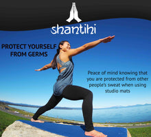Load image into Gallery viewer, Shantihi Hot Yoga Mat Towel Blue