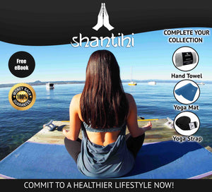 Shantihi Hot Yoga Mat Towel Blue
