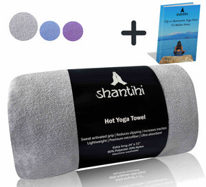 Shantihi Hot Yoga Mat Towel Grey