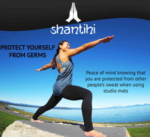 Load image into Gallery viewer, Shantihi Hot Yoga Mat Towel Grey