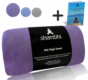 Shantihi Hot Yoga Mat Towel Purple