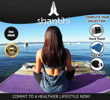 Load image into Gallery viewer, Shantihi Hot Yoga Mat Towel Purple