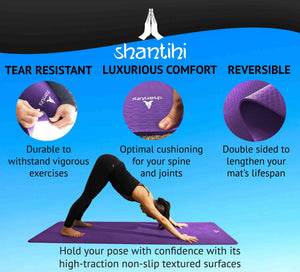 Shantihi Eco Yoga Mat Dark Purple