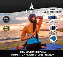 Load image into Gallery viewer, Shantihi Yoga Strap Black