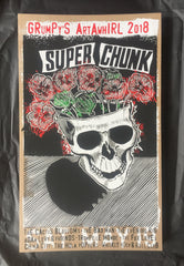 Grumpy's 2018 Art-A-Whirl Super Chunk Ltd Ed. silkscreen print+postcard set