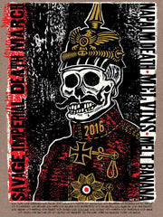 "Melvins/Napalm Death/Melt Banana ""Savage Imperial Death March"" silkscreen tour print"