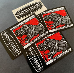 "Amphetamine Reptile ""Speed Kills, Accelerate!"" sticker pack"