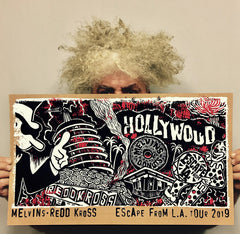 "MELVINS/REDD KROSS ""Escape from L.A."" Ltd Ed. silkscreen print *GLOW VERSION*"