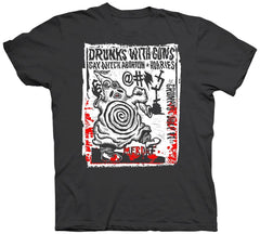 Drunks with Guns @ Grumpy's concert T-shirt