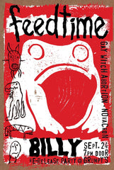 "feedtime:"" Billy"" Re-Release Party at Grumpy's poster"