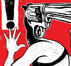 With A Gun For A Face October 2012 Residency Poster
