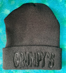 Grumpy's Bar Beanie *BLACK-ON-BLACK*