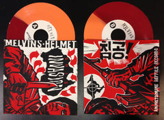 "Helmet/Melvins 2013 ""Invasion""  tour split 7"""