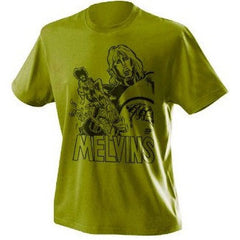 Melvins olive T [design by Brian Walsby]