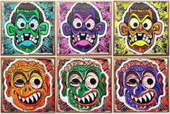 HAZE XXL: NUTTY BRAINS MASKS 6x serigraph print set