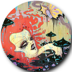"Melvins/Hammerhead-Post Moral Neanderthal Retardist Pornography 7"" picture disc (Camille Rose Garcia version)"
