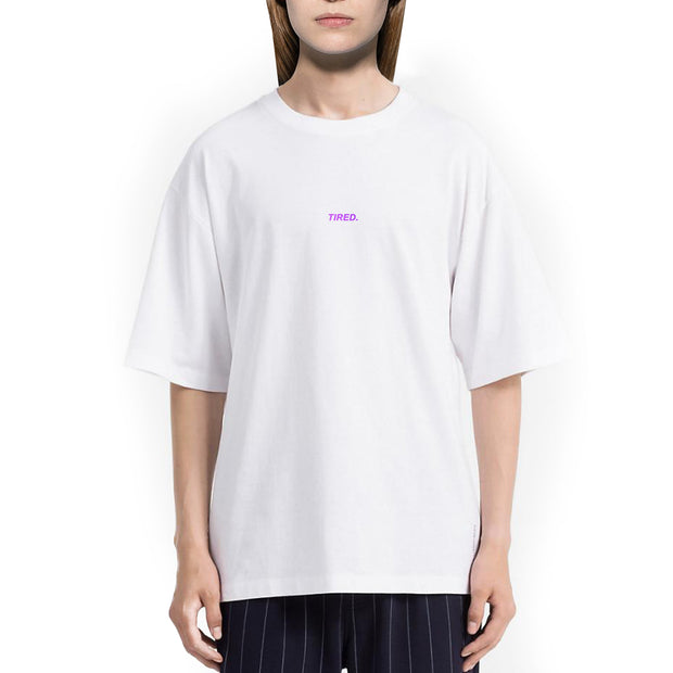 Tired. Tshirt Oversize Donna Con Stampa Olografica - Concept Store.