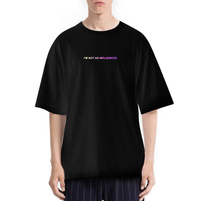 I'm Not An Influencer. Tshirt Oversize Uomo Con Stampa Olografica - Concept Store.
