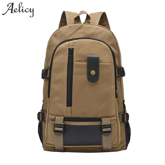 a9811ad0b36e Aelicy MEN casual canvas bag designer backpack new fashion waterproof  laptop backpacks travel zipper bag 2018