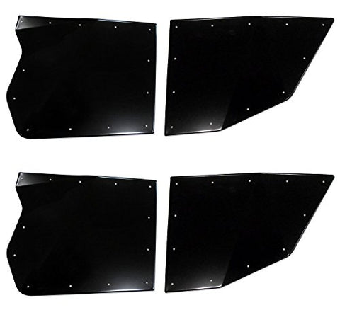 TMW OFF-ROAD Black Sidewinder Doors for Polaris RZR XP4 1000 / Turbo (Full Set)