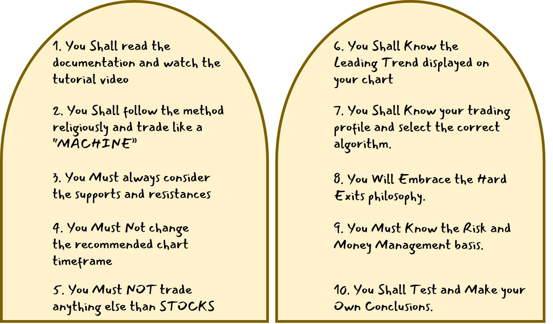 BEST 10 commandments stocks trading