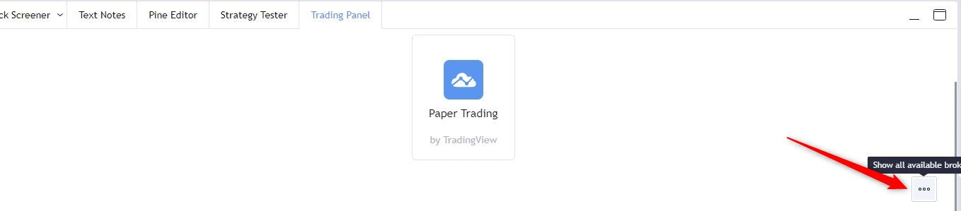 Select Oanda on TradingView Step 1