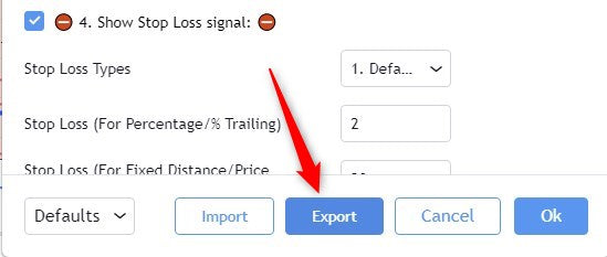StratXPro Export feature