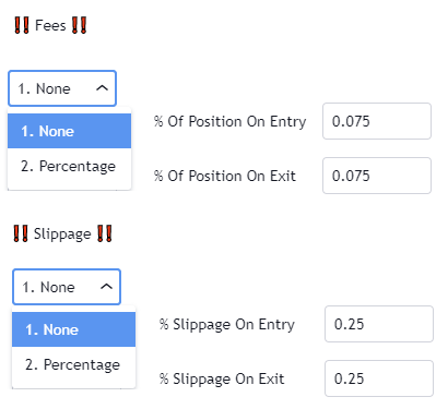 Fees and Slippage
