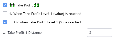 Take Profit Backtest