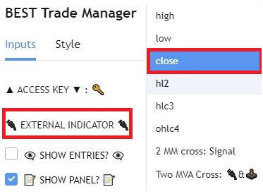 Unconnect your external TradingView indicator