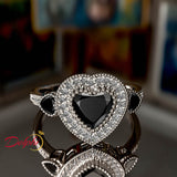 Heart Shape Gold Engagement Ring - 01AD03