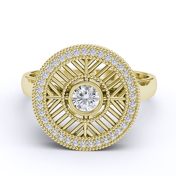 Gold Engagement/Fashion Ring  - 01AD06