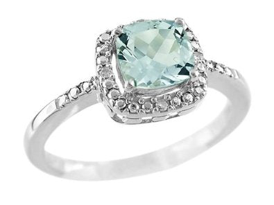 Antique Shaped Aquamarine Ring - 01AQ11
