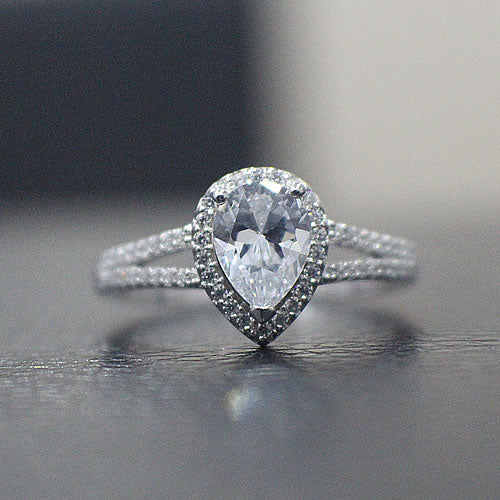 Sterling Silver Engagement Ring - 01AS23