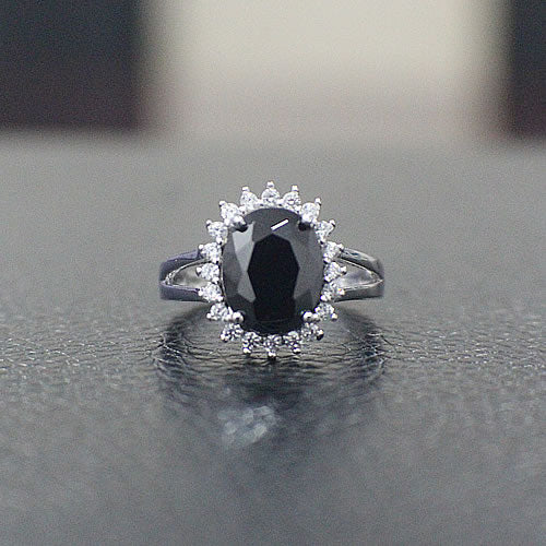 Sterling Silver Engagement Ring - 01AS25