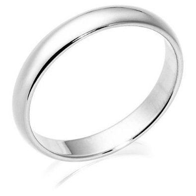 10k White Gold Wedding Band (4 mm) - 01B08