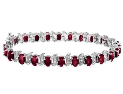 Garnet Bracelet with Diamond - 01BR28