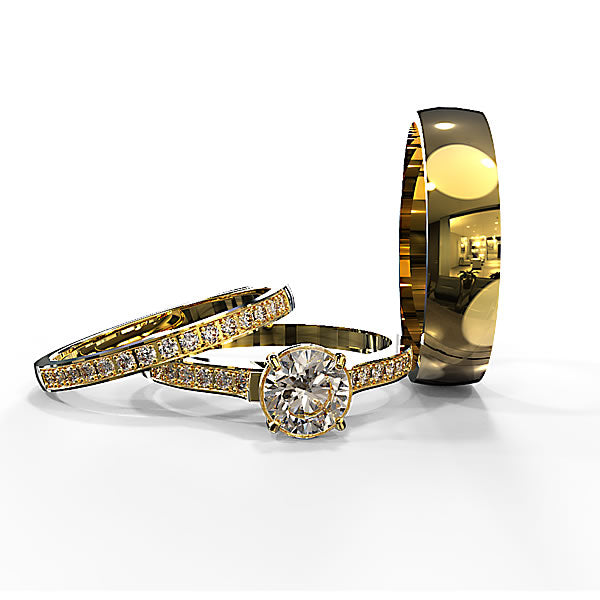 Zara Collection - Complete Gold Wedding Set - 01BS02