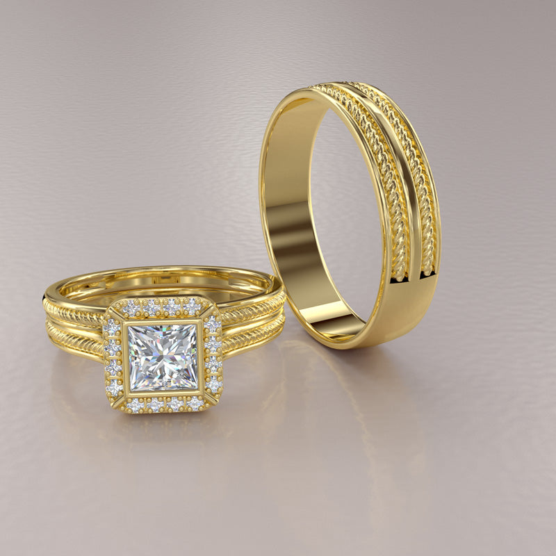 Zara Collection - Complete Gold Wedding Set - 01BS03