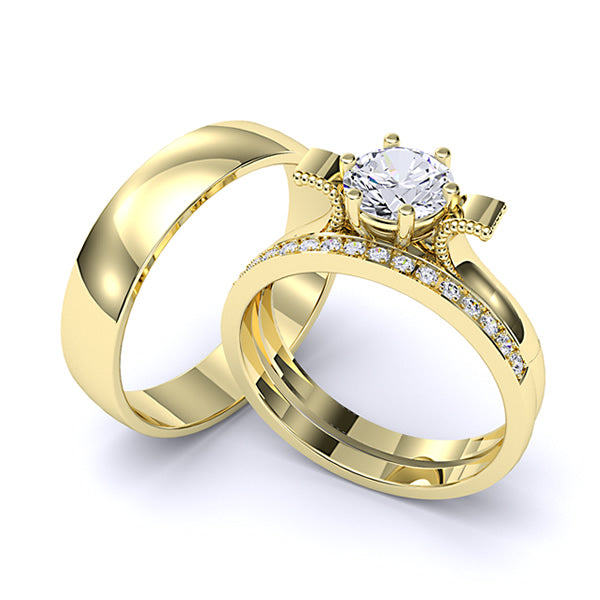 Zara Collection - Complete Gold Wedding Set - 01BS09