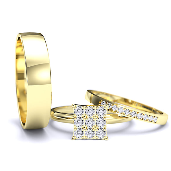 Zara Collection - Complete Gold Wedding Set - 01BS12